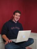 Mark Zuckerberg in his dorm