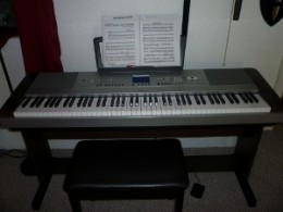My beautiful Yamaha DGX640 with complete home bundle from Kraft Music