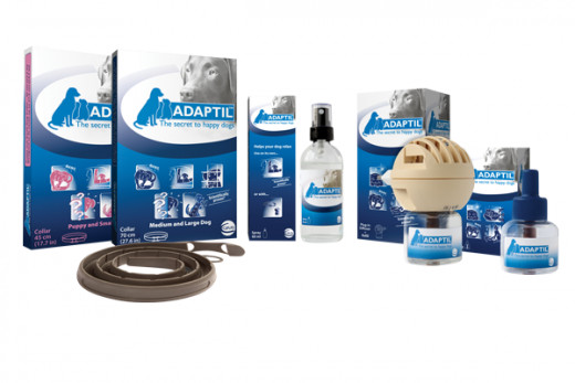 DAP diffuser, collar and spray products in the Adaptil range