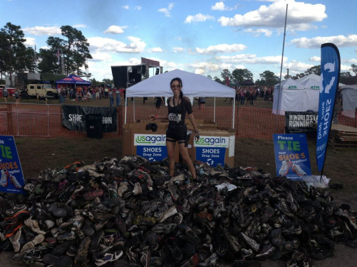 Donating muddy shoes to Usagain
