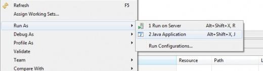 From file menu,select run as java application