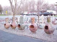 My mother and her husband used to sell concrete lawn ornaments.  They often got in shipments of chimineas from Mexico.