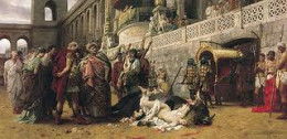 Christians persecuted in Ancient Rome.