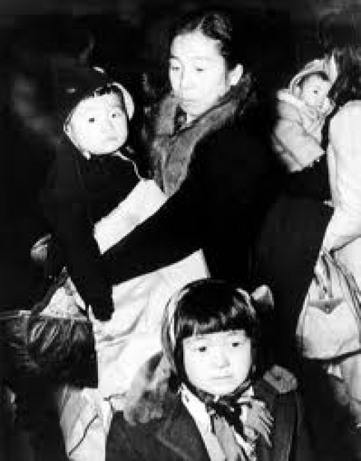 Japanese-Americans deemed as outsiders were ostracized, separated from rest of the American population and were placed in concentration camps such as Manzanar.