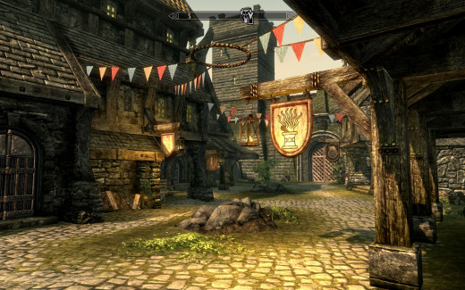 A typical city in Skyrim
