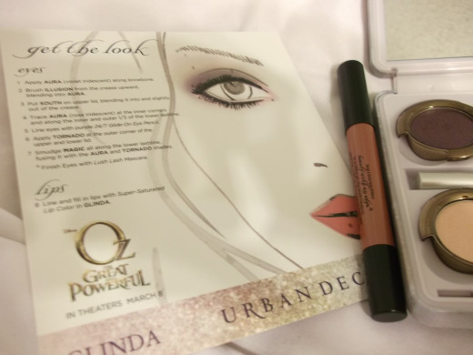 "The ""Get the Look"" card and loose lip pencil."