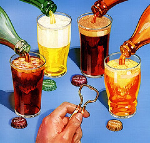 All Types of Soft Drinks- Cola, Citrus, Orange & More