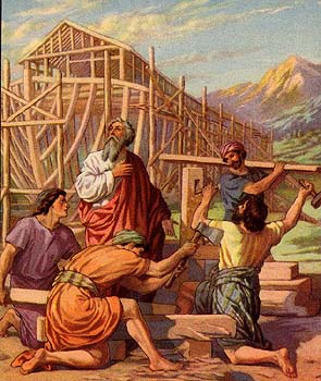 Noah Building the Ark.
