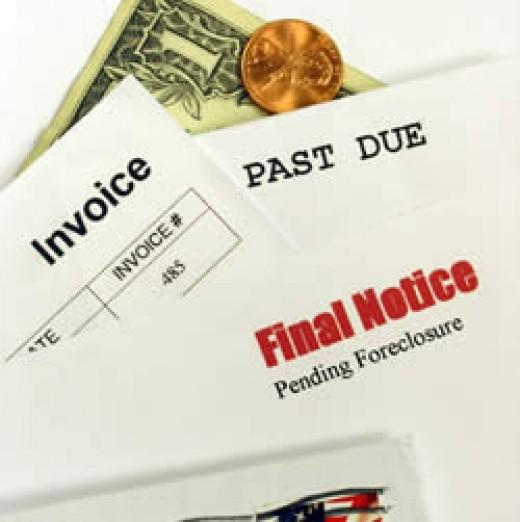 Notices of Past Due Bills