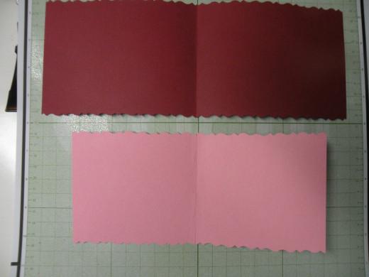 Inside of card: pink background