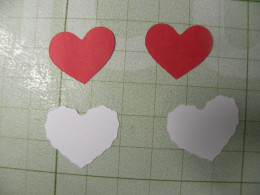 Hearts, large and small, cut out for inside and outside of card