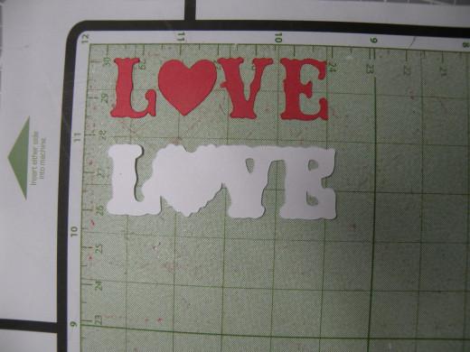 LOVE cutouts