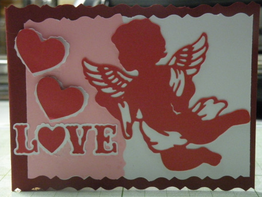 Front of the card before bows added.