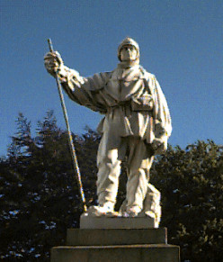 Captain Robert Falcon Scott memorial in Christchurch, New Zealand. Second man to the South Pole (January 1912) after Norway's Amundsen in December 2011.