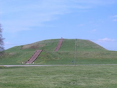 Monk's Mound at Cahokia in Illinois