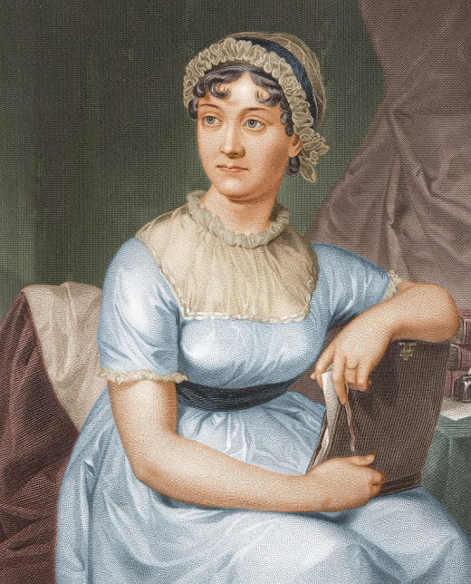 Famous engraving of Jane Austen from 1873