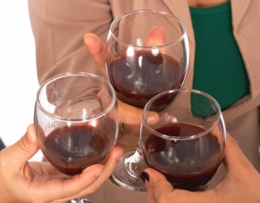Celebrating With a Glass of Wine