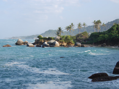 Beach in the Tayrona National Park