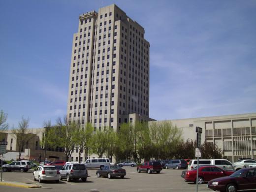 "The North Dakota State Capitol Building, AKA ""The Skyscraper on the Prairie"""