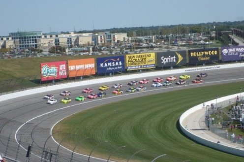 Obviously not Daytona...but I haven't made it there yet...This picture is from Kansas Speedway.