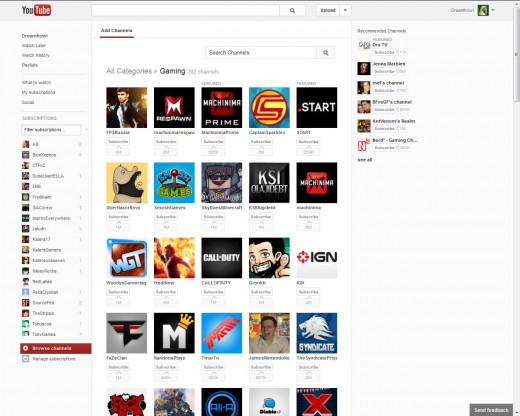 Searching the gaming category on YouTube will help you find Let's Play videos.
