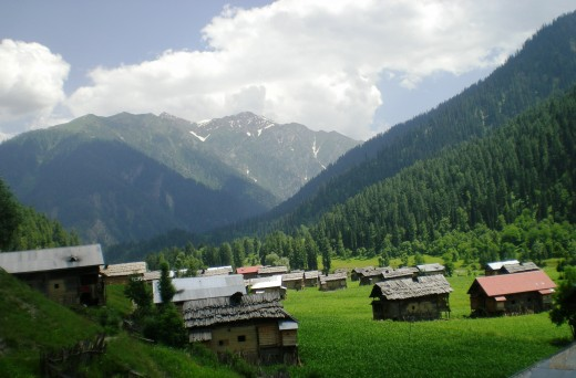 Taobat, last town in Neelum Valley.