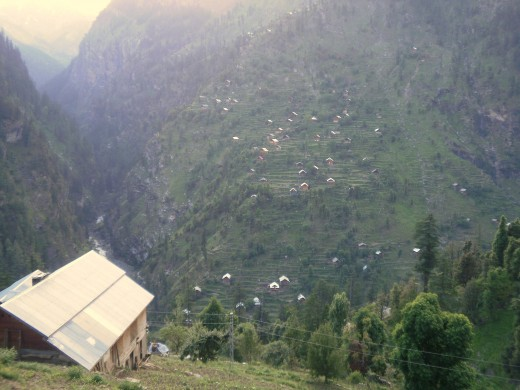Dazzlingly high mountains and equally dazzling villages which occupy them. Neelum Valley, Azad Kashmir