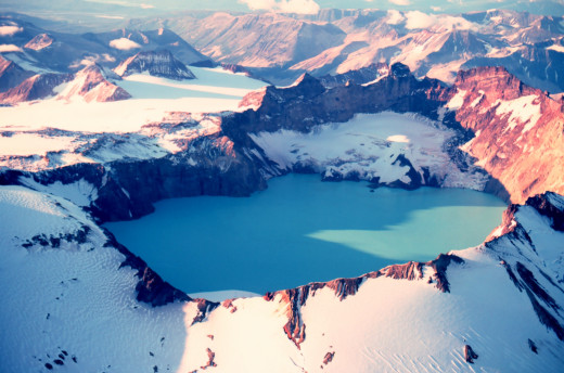 This one competes with Crater Lake National Park in terms of beauty since this is also a volvanic crater lake.  The difference is that this volcano is active though no eruptions since the spectacular one of June 1912 that created it.