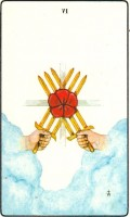 The Six of Swords in the Golden Dawn Tarot Deck, with pictures meant only for meditations