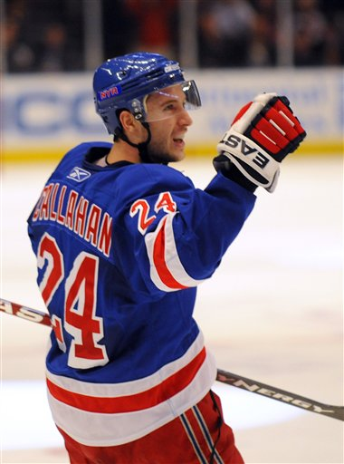 Underrated Captain Ryan Callahan has reason to celebrate now that his shoulder injury is healed and he's back on the ice leading the Rangers to victory.