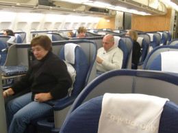 The Envoy Section of US Airways flight to Madrid