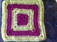 Another granny square coaster