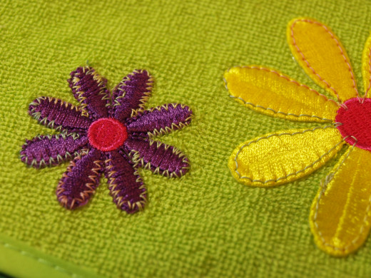 Try using decorative stitches when applying the applique.