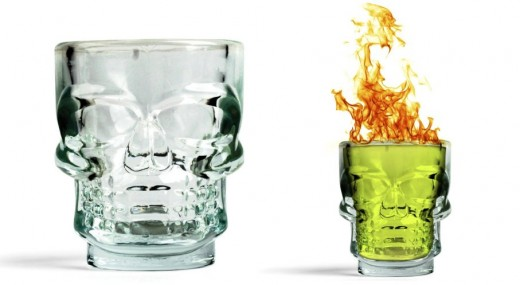 Kikkerland Skull Shot Glasses