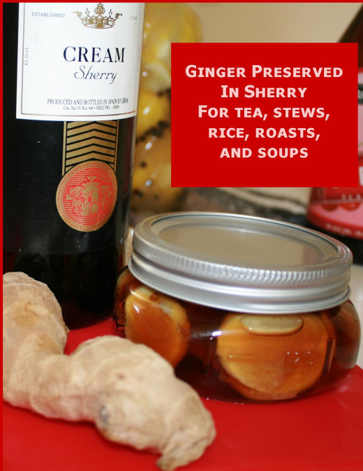 Ginger preserved in Sherry