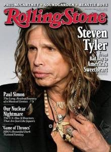 Steven Tyler Sporting Hackle Hair Extensions on the May 12, 2011 Cover of Rolling Stone