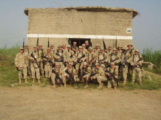 Misawa, Luke, and MD National Guard Group Photo
