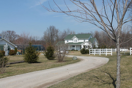 Amish homes look just like a traditional home from the outside.