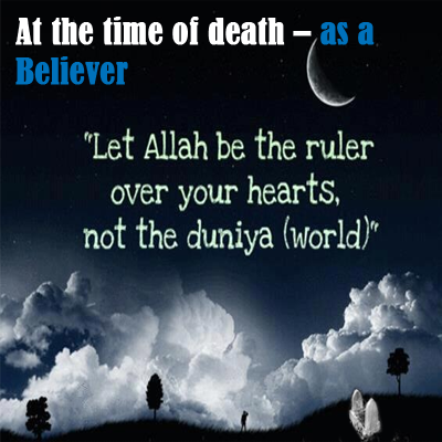 At the time of Death - what will you do?