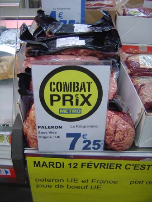 Paleron du boeuf - shoulder of beef - horsemeat is not normally cheap in France