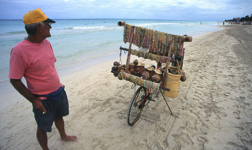 Henryk Kotowski photographed a vendor on the beach in Varadero, Cuba on January 31, 2007.