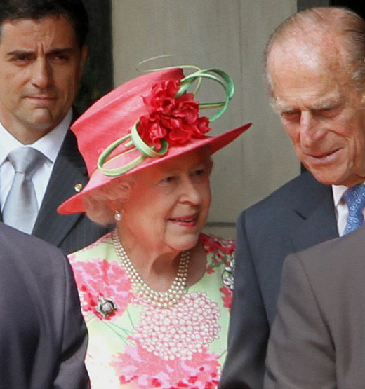 As of February 12, 2013 - Queen Elizabeth and the Duke of Edinburgh.