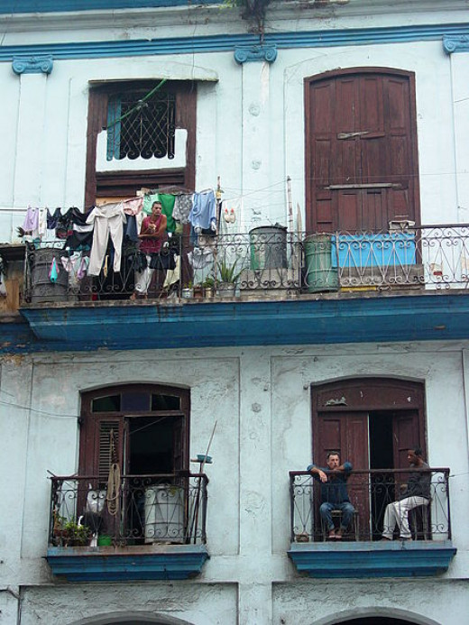 Adam Jones photographed these apartments in Old Havana on August 18, 2009.