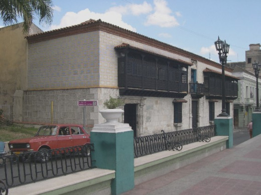 Pixel photographed the home of conquistador Diego Velázquez de Cuéllar in Santiago de Cuba, Cuba on  November 29, 2005. The house is now a museum of colonial art.