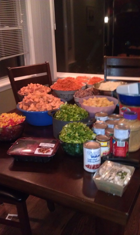 Mom's night cooking - whatever works