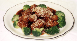If your looking for a wonderful tasting sesame chicken then here is a wonderful recipe for you. See the dish in the above photo.