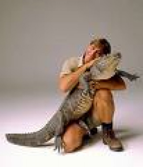 The late Steve Irwin, a real Crocodile Dundee, with one of his beloved crocs shortly before his untimely death by sting ray venom.