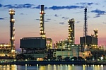refinery plants on river banks
