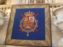 The crest of the royal Spanish family.