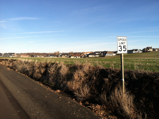 One of the Subdivisions Along Cottonwood Road in Walla Walla